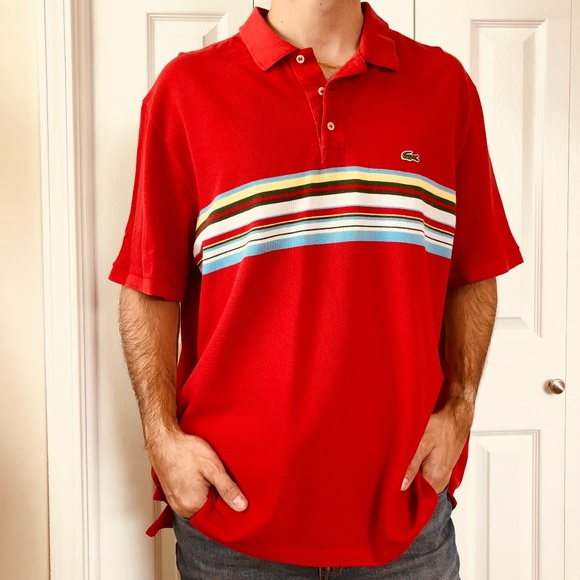 f011060e62804 Lacoste Other - Lacoste Regular Fit Red Bold Stripe Polo XXXL 8